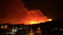 Forest fires rage in Lebanon's Chouf Mountains
