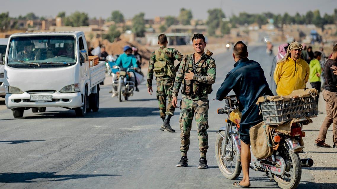 Syrian regime forces Tal Tamr Syria Hasakeh October 2019 AFP