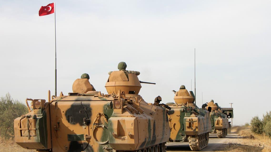 آلية تركية في شمال سوريا(فرانس برس)