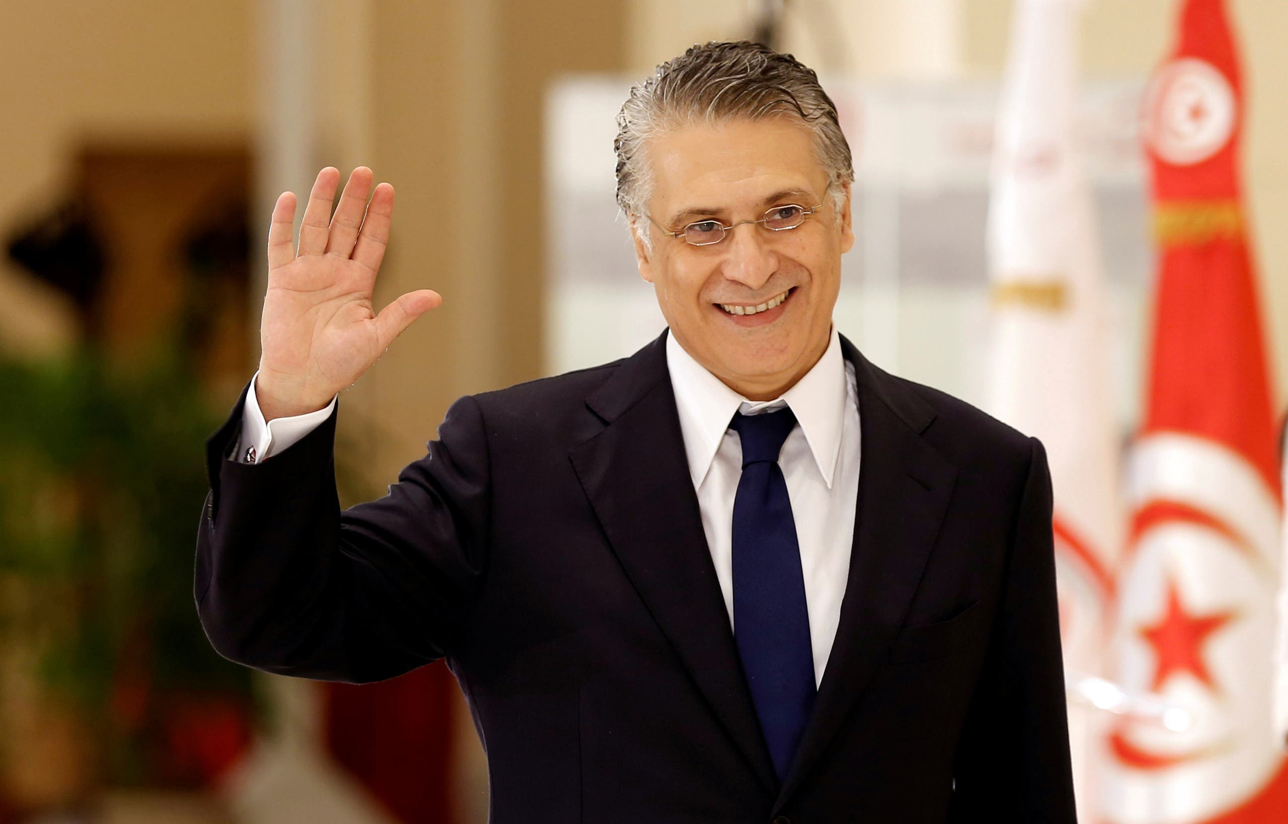 Tunisian politician and presidential candidate in the country's 2019 elections, Nabil Karoui. (Reuters)