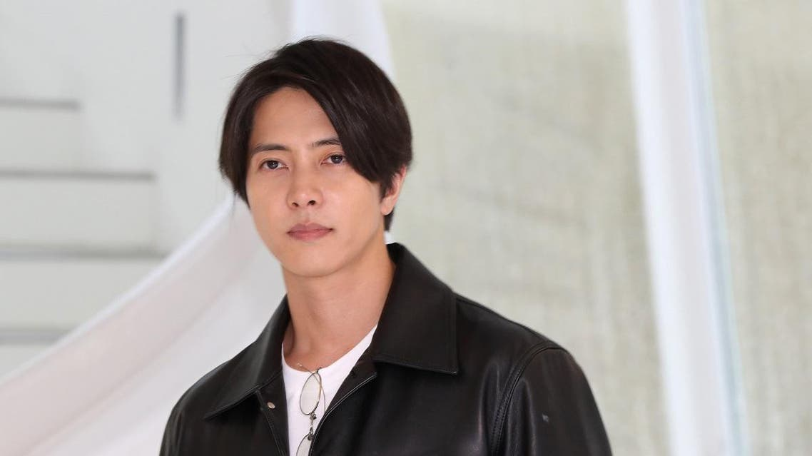 """Japanese actor Tomohisa Yamashita during a photo call for the television series """"The Head"""" as part of the MIPCOM in Cannes, France on Oct. 15, 2019. (AFP)"""