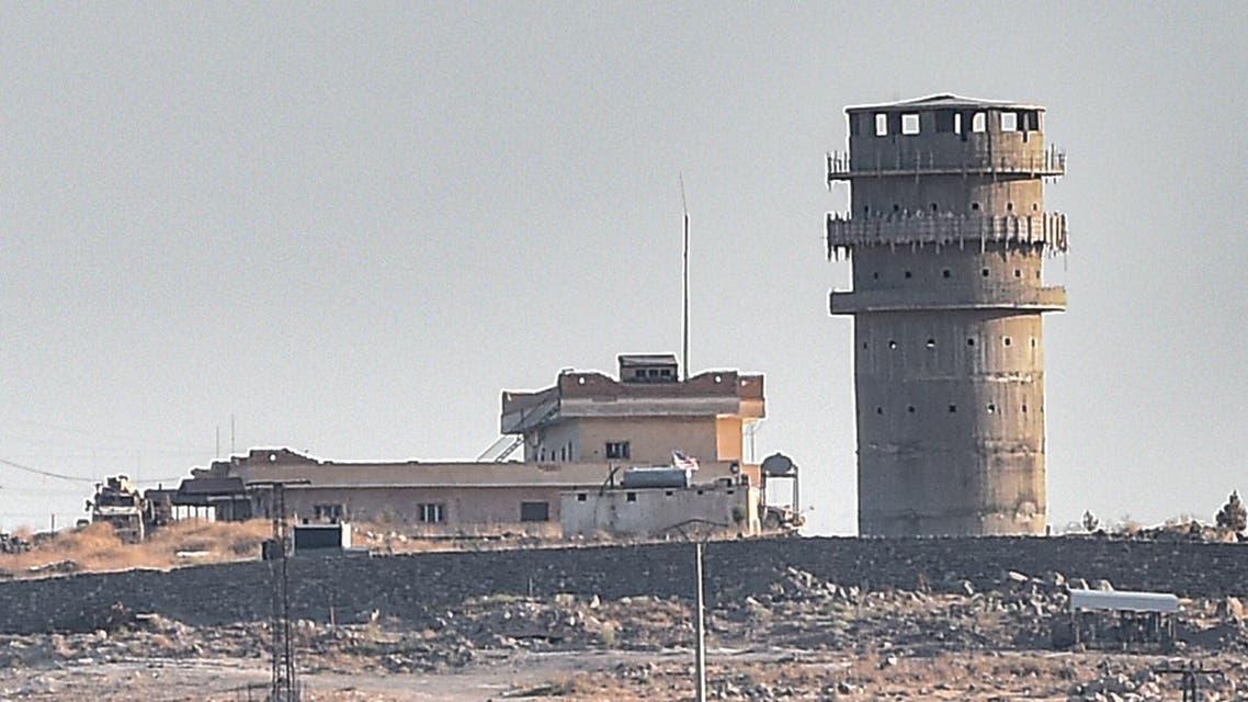 October 12 2019 US observation post near the Syrian town of Kobani Kobane SYRIA AFP