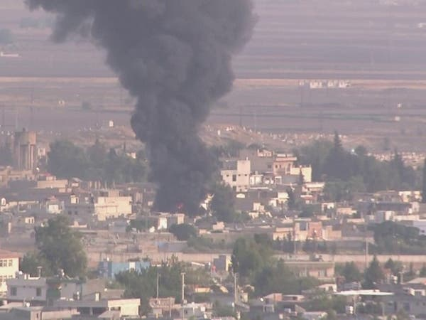 فيديو.. حريق من هجوم تركي على رأس العين السورية