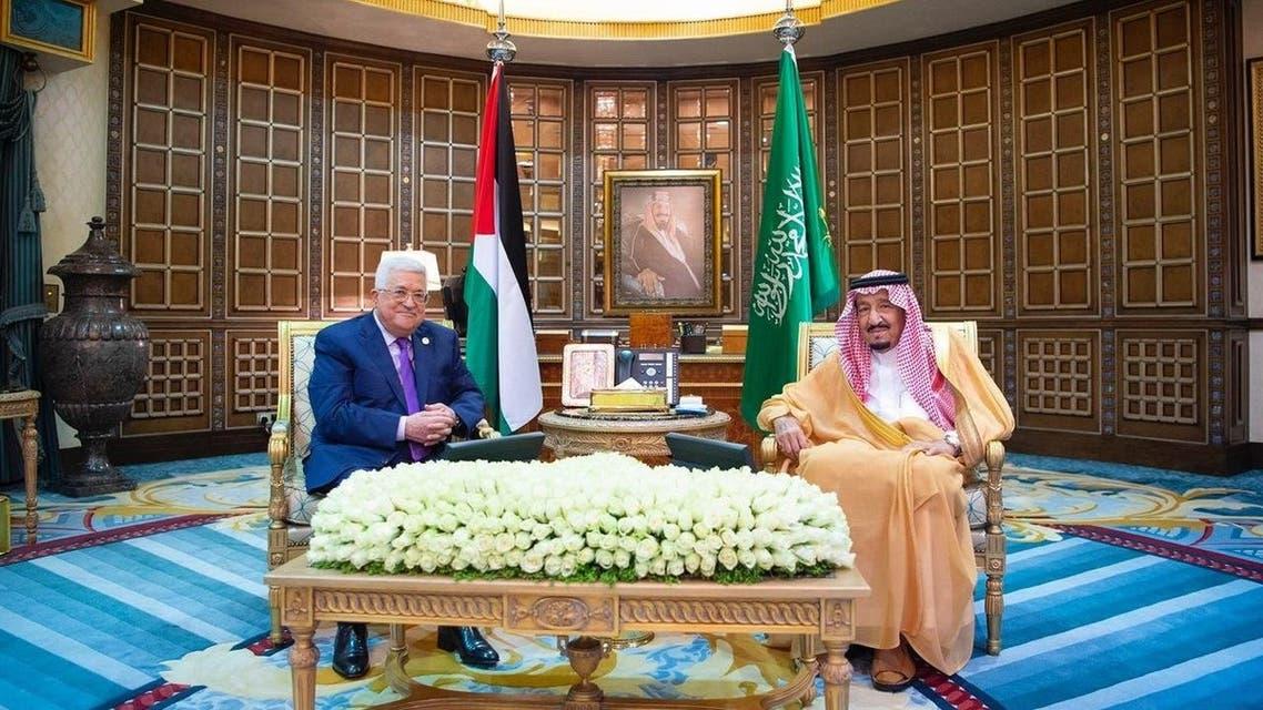 الملك سلمان و محمود عباس
