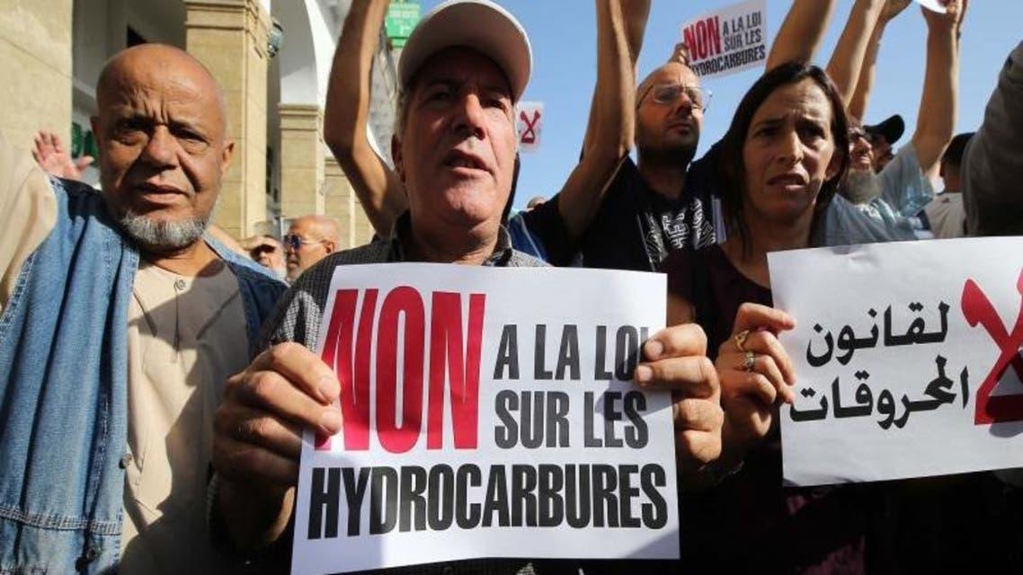 تظاهرات ضد قانون المحروقات في الجزائر