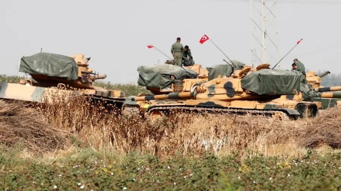 الدبابات التركية على حدود سوريا