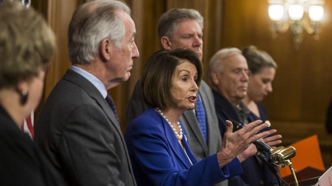 House Speaker Nancy Pelosi (D-CA) speaks during a news conference discussing H.R. 3, the Lower Drug Costs Now Act, on Capitol Hill on October 16, 2019 in Washington, DC. (AFP)