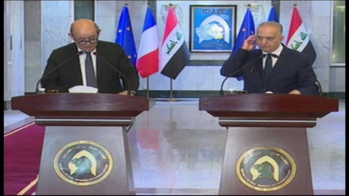 french Foreign minister in Iraq