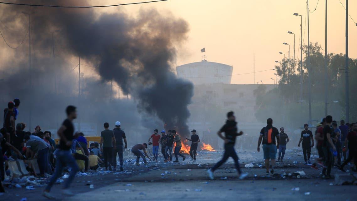 iraq protest baghdad october REUTERS