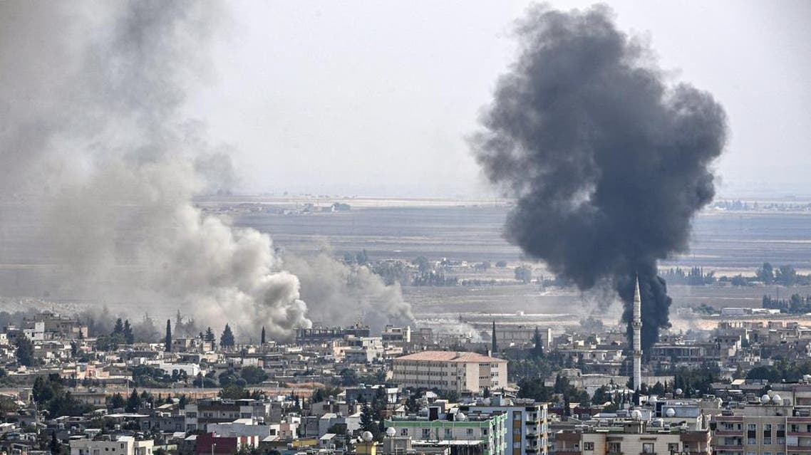 Picture shows smoke rising from the Syrian town of Ras al-Ain. (File photo: AFP)