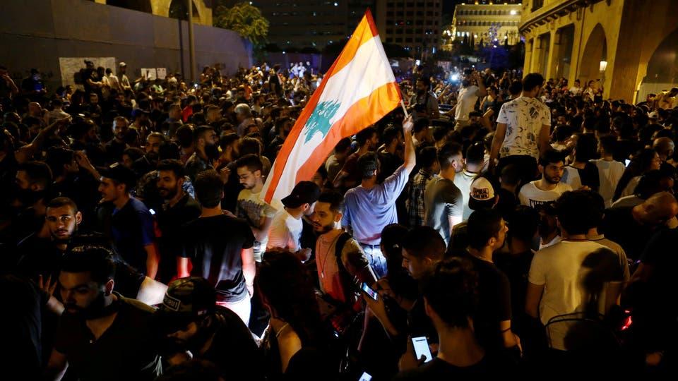 نتيجة بحث الصور عن المظاهرات في لبنان الان