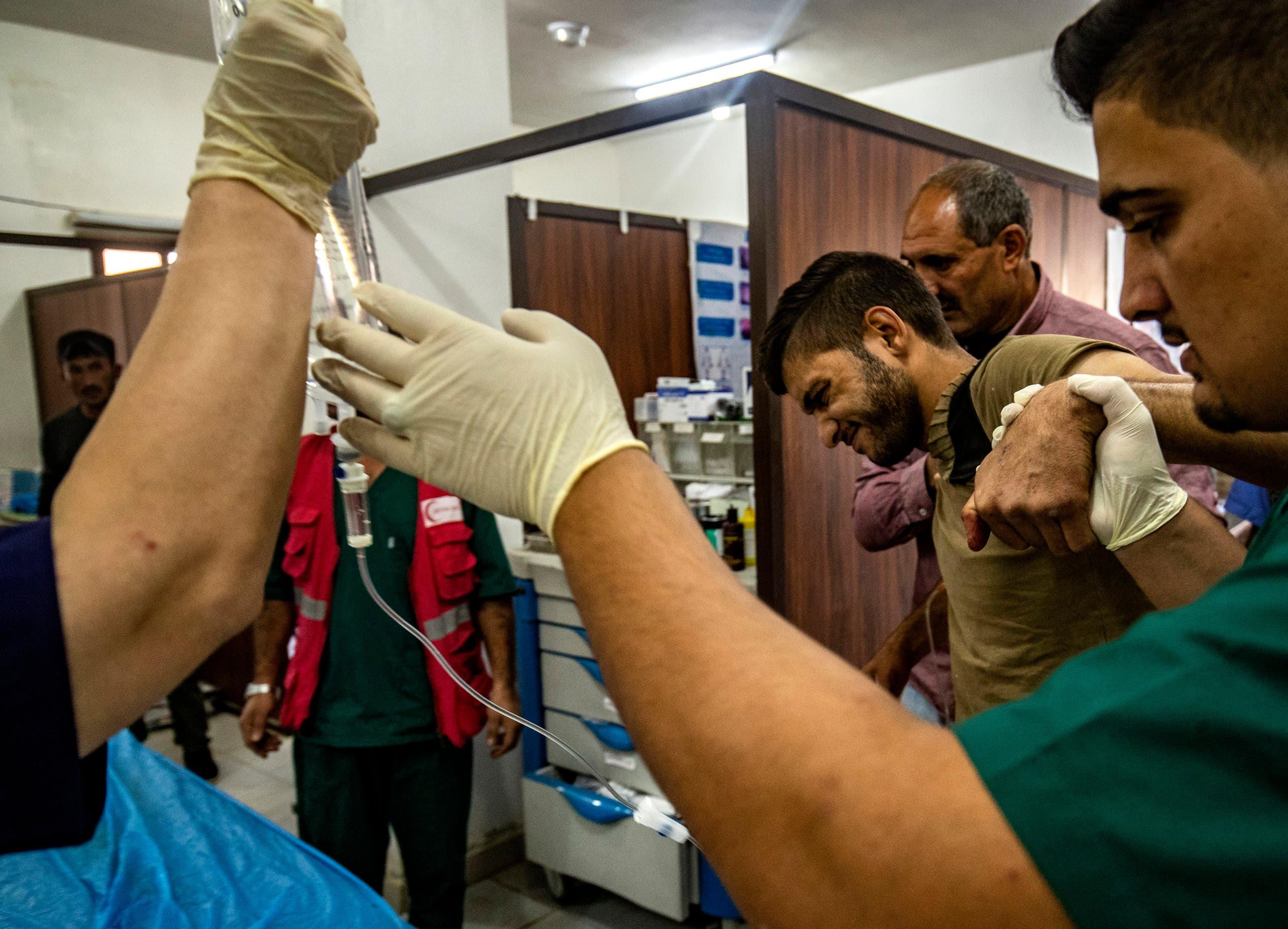 جرحى في شمال سوريا(18 أكتوبر - فرانس برس)