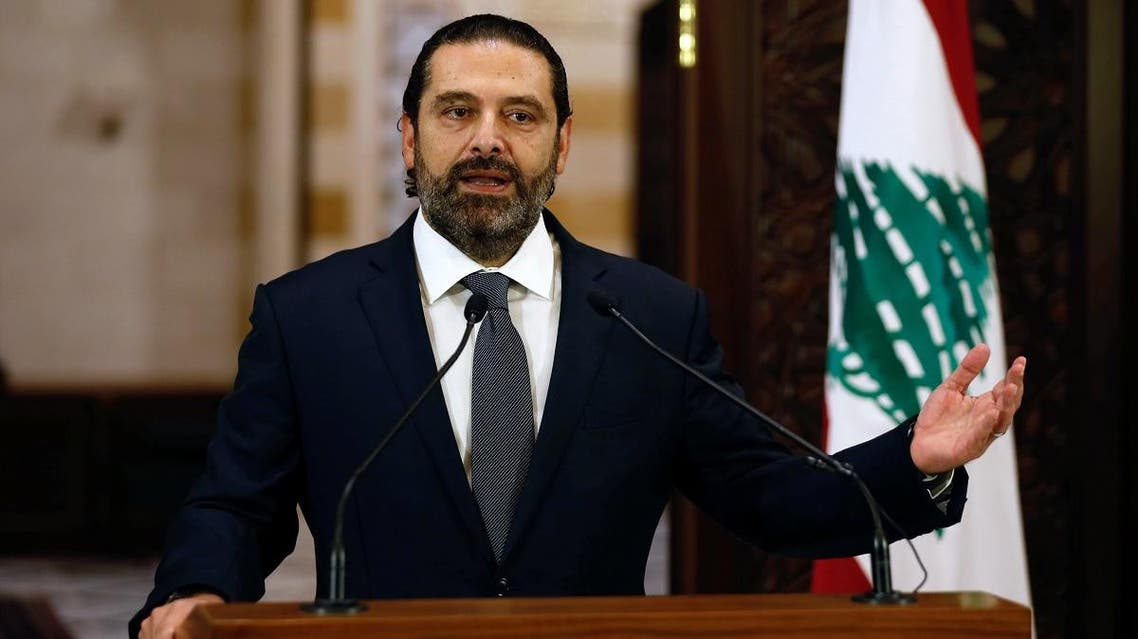 Lebanon's Prime Minister Saad al-Hariri speaks during a news conference in Beirut, Lebanon October 18, 2019. REUTERS/