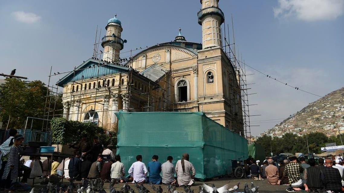Afghan Muslim men offer Eid al-Adha prayers at Shah-e-Do Shamshira mosque in Kabul. AFP