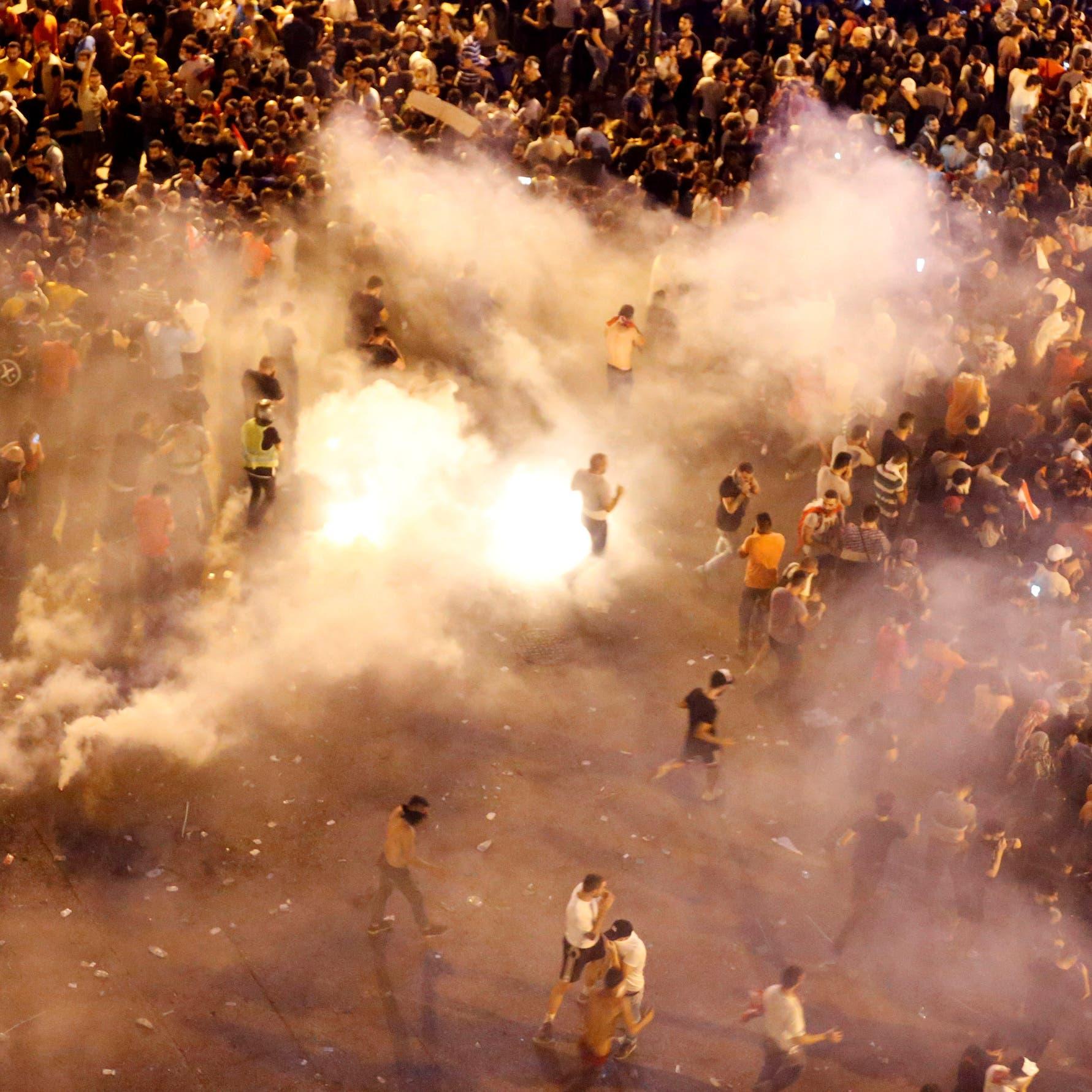 وسط بيروت يحترق.. شغب في قلبها وغاز مسيل للدموع