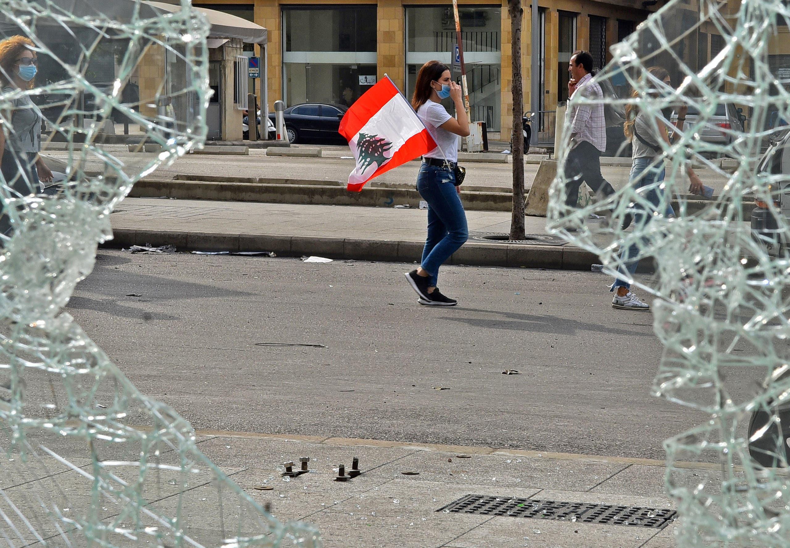 مظاهرات لبنان 18 أكتوبر، فرانس برس