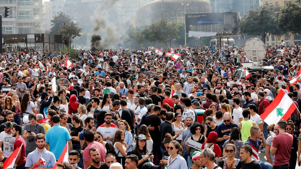 تظاهرات لبنان رويترز 18 أكتوبر