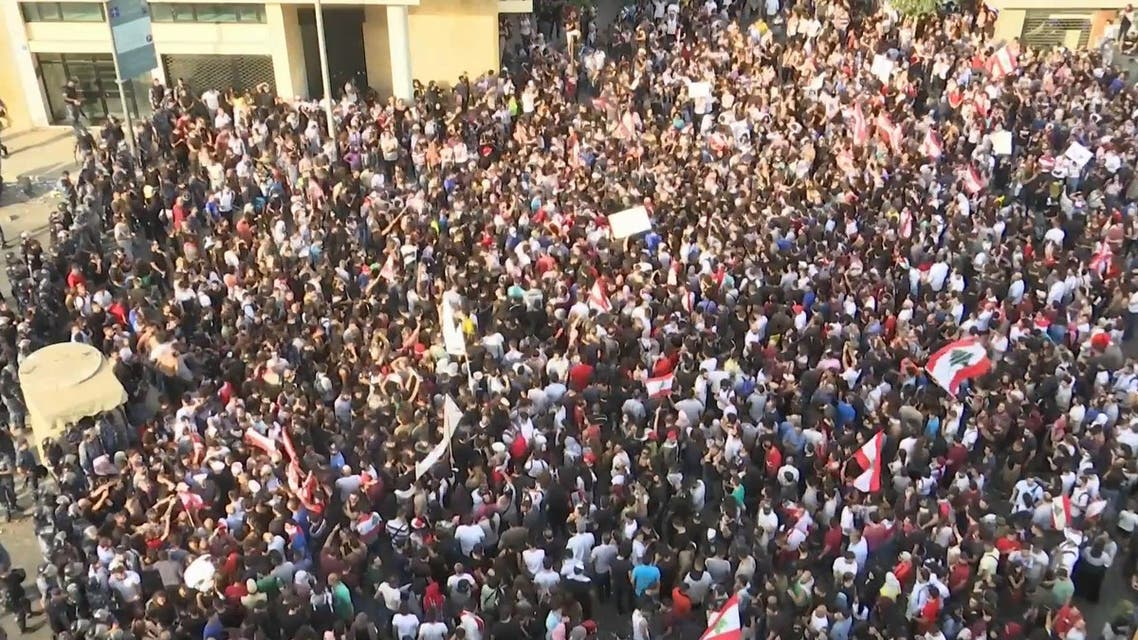 Lebanon crowds protest in Beirut - AA