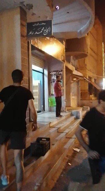 من أمام مبنى محمد رعد