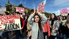 Croatians protest over release of teenager's suspected rapists
