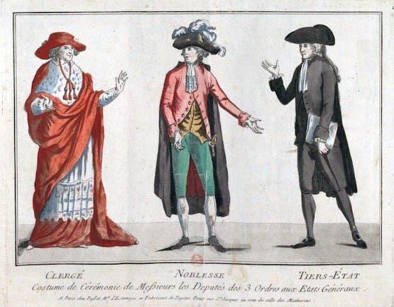رسم تخيلي لمكونات مجلس الطبقات الفرنسي