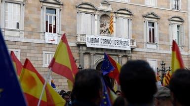 معارضو استقلال كتالونيا ينظمون احتجاجا مضادا في برشلونة