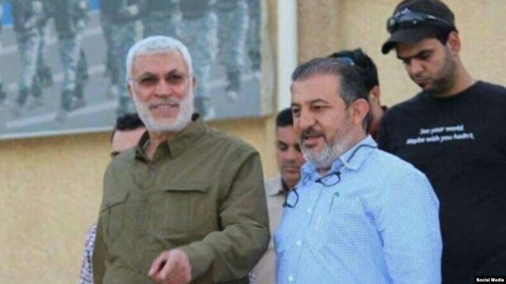 ابو زينب اللامي برفقة أبو مهدي المهندس