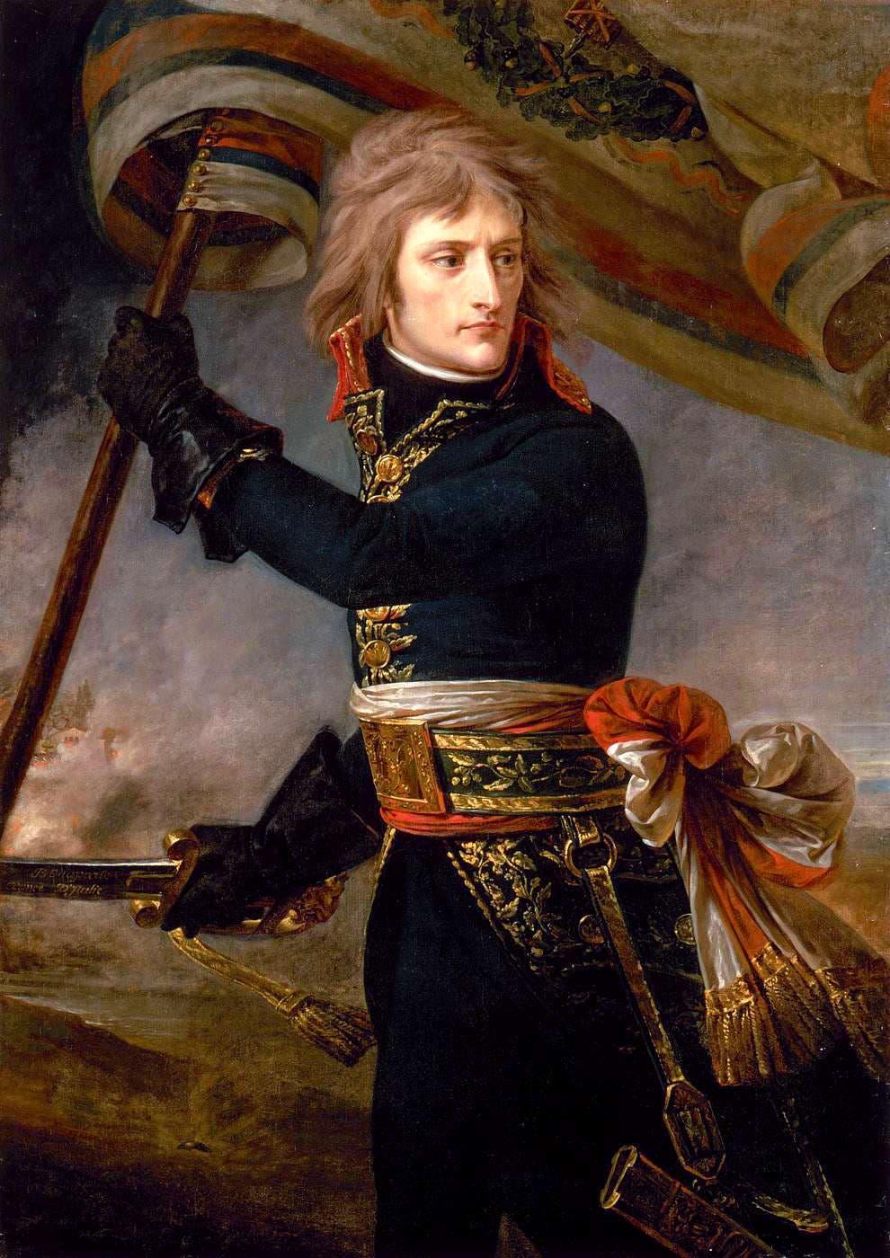 صورة لنابليون بونابرت وهو بثياب الجنرال في شبابه
