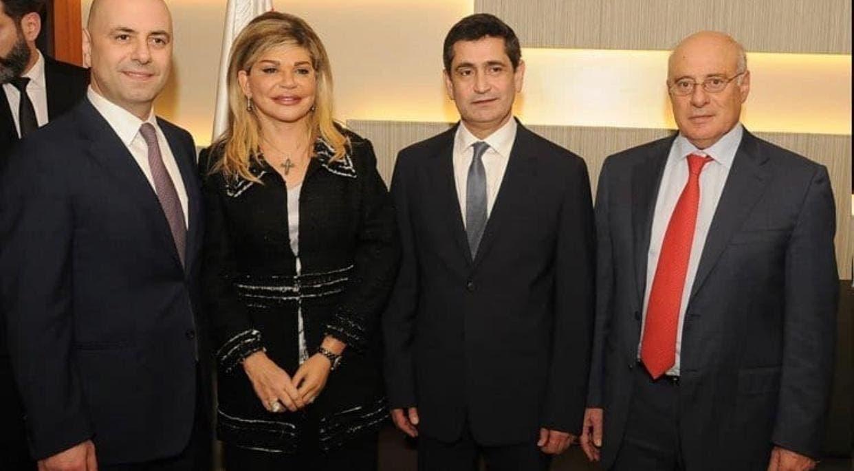 من اليمين: كميل أبو سليمان، ريشار قيومجيان، مي شدياق، غسان حاصباني