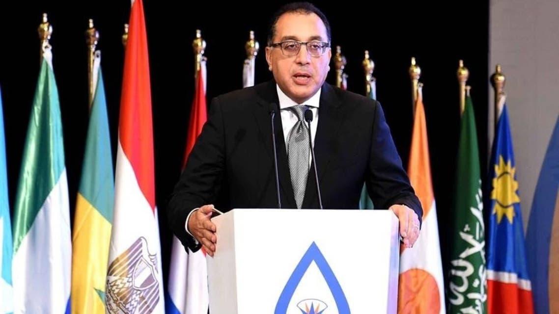 صورة رئيس الوزراء المصري خلال كلمته في مؤتمر المياه
