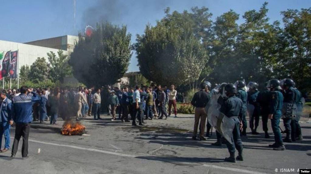 من احتجاجات العمال في إيران