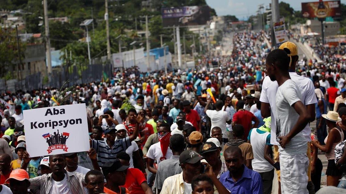 Demonstration against Haitian President Jovenel Moise in Port-au-Prince. (Reuters)