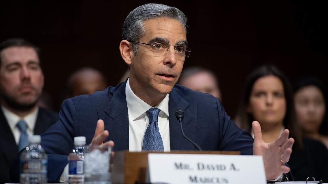 David Marcus, Head of Calibra at Facebook, testifies about Facebook's proposed digital currency called Libra, during a Senate Banking, House and Urban Affairs Committee hearing on Capitol Hill in Washington, DC, July 16, 2019. (AFP)