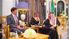 Saudi King Salman receives US Secretary of Defense Mark Esper