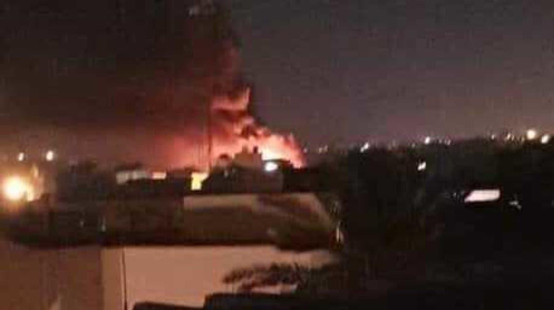 صورة من قصف المطار