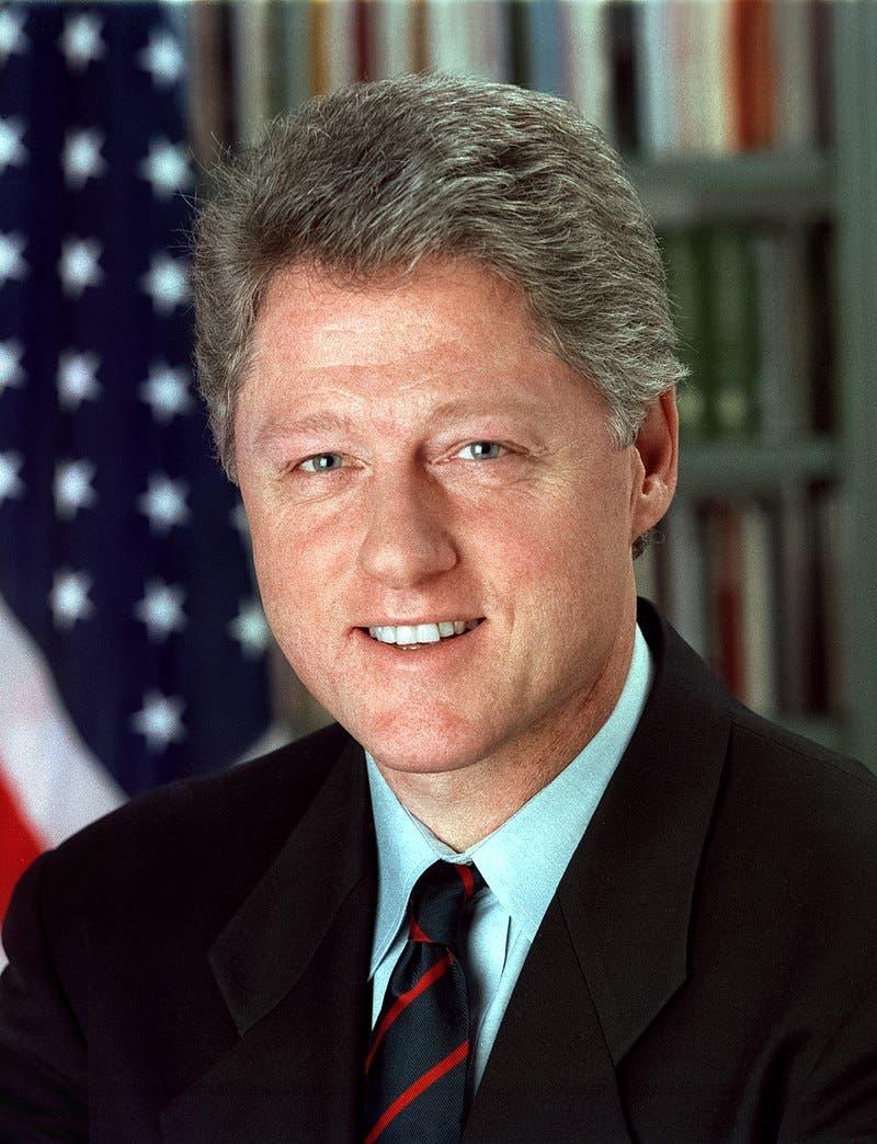 صورة للرئيس الأميركي بيل كلينتون