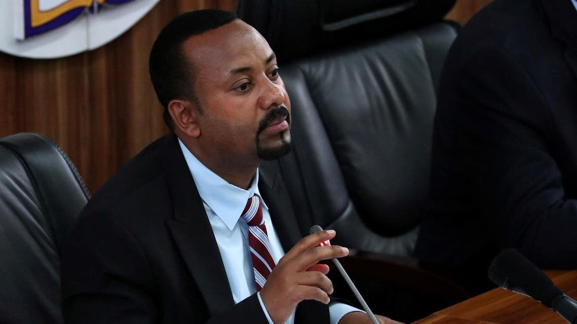 Ethiopia's Prime Minister Abiy Ahmed speaks during a session with the Members of the Parliament in Addis Ababa, Ethiopia, October 22, 2019. REUTERS