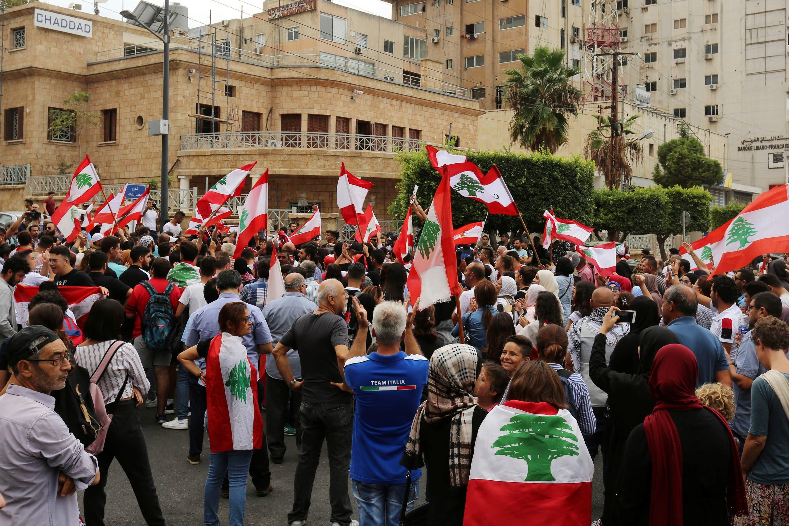 من احتجاجات صور في لبنان