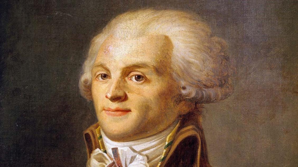 لوحة زيتية تجسد شخصية ماكسيمليان روبسبيار