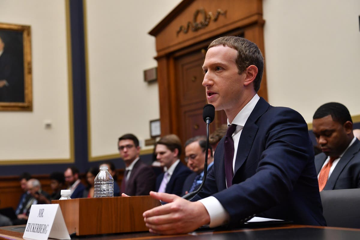Facebook Chairman and CEO Mark Zuckerberg testifies before the House Financial Services Committee on An Examination of Facebook and Its Impact on the Financial Services and Housing Sectors in the Rayburn House Office Building in Washington, DC on October 23, 2019. (AFP)