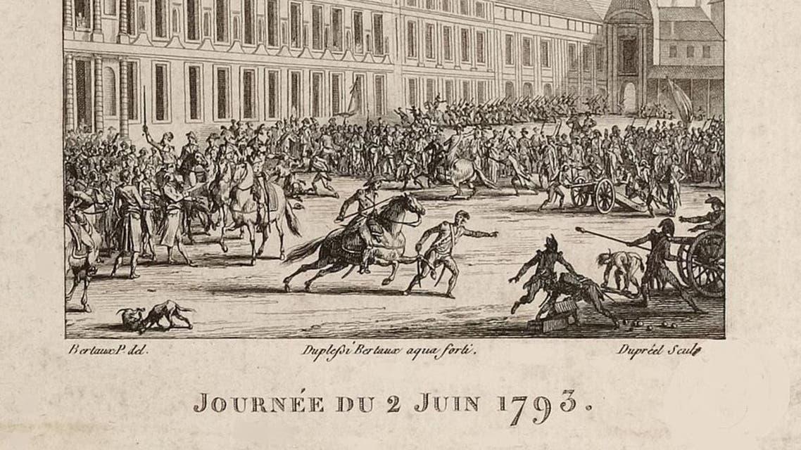 صورة تخيلية تجسد استعداد الجماهير الباريسية الغاضبة لإجتياح المجلس الوطني