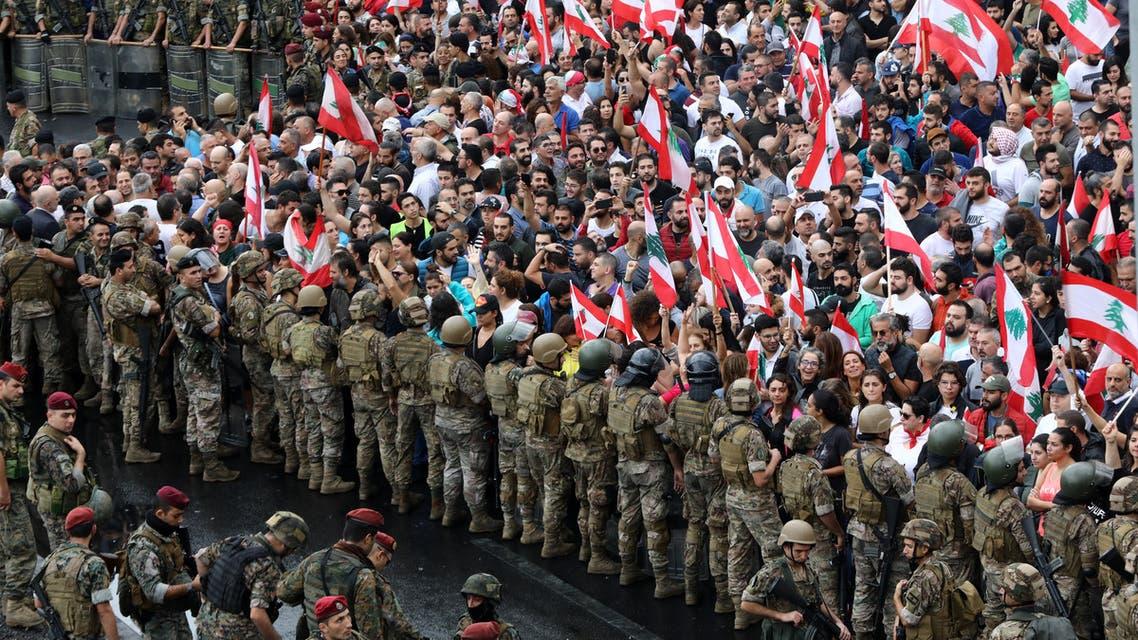 من جل الديب(المتن الشمالي، لبنان، 23 أكتوبر- فرانس برس)