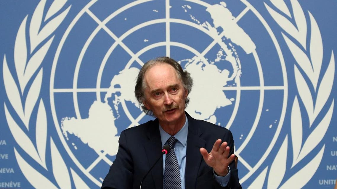 UN Special Envoy Geir Pedersen attends a news conference at the United Nations in Geneva. (Reuters)