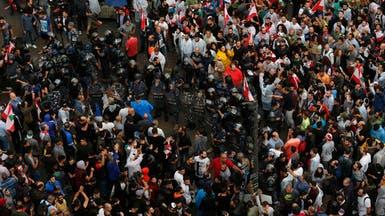 شاهد.. موالو حزب الله يهتفون للخميني وخامنئي وسط بيروت