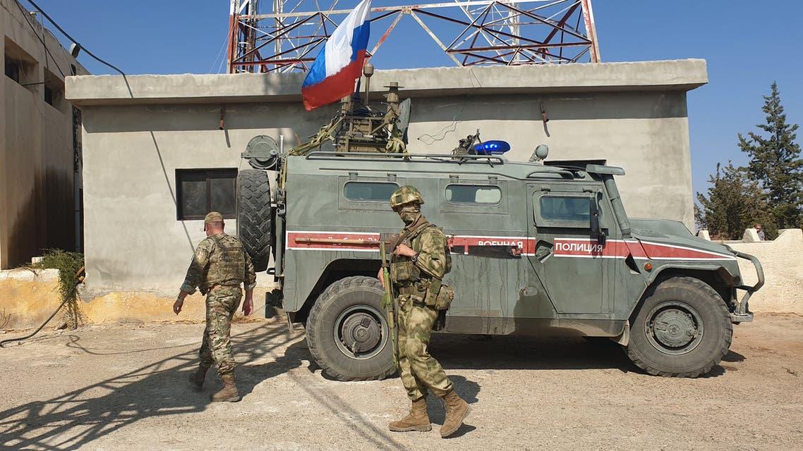 الشرطة الروسية في عين العرب(23 أكتوبر 2019- فرانس برس)