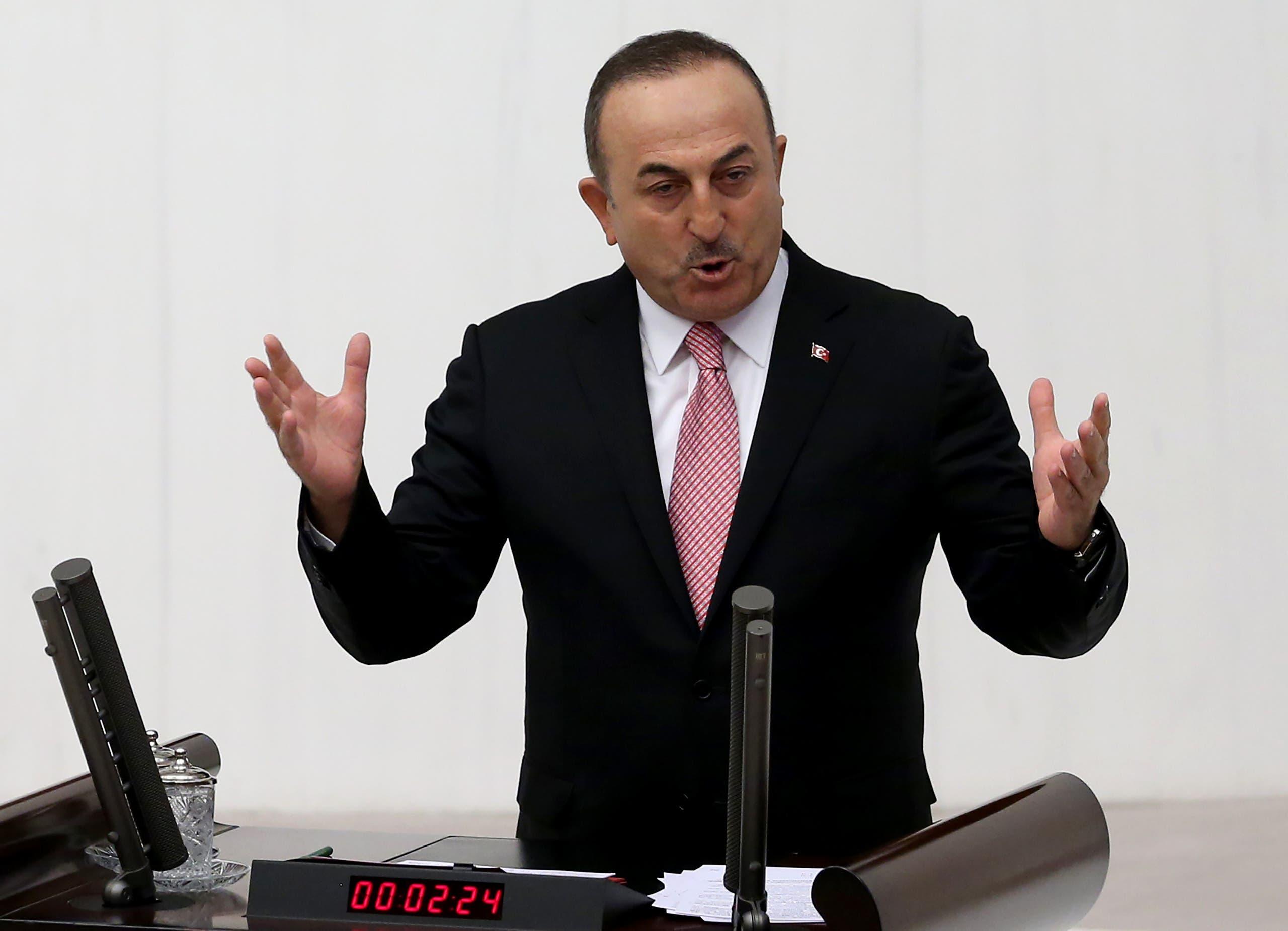 وزير الخارجية التركي مولود تشاووش أوغلو(فرانس برس)