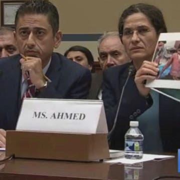 """صورة طفل كردي في قلب الكونغرس.. """"فوسفور تركيا يقتلنا"""""""