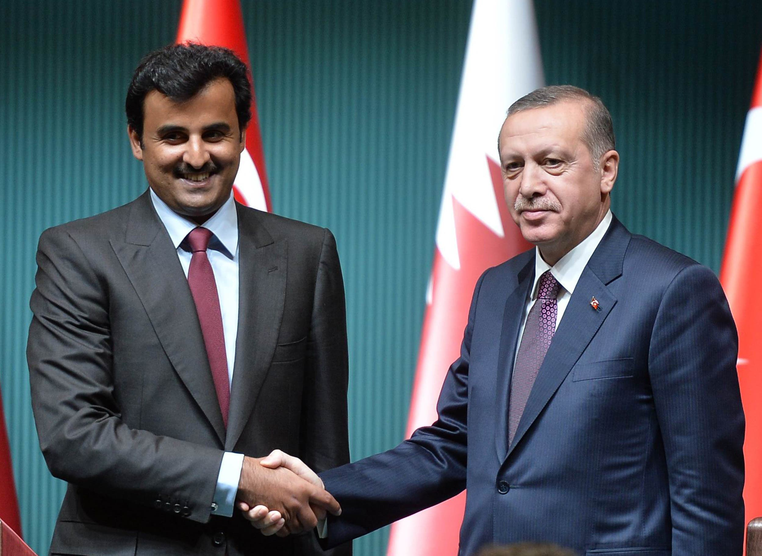 أردوغان وأمير قطر في أنقرة