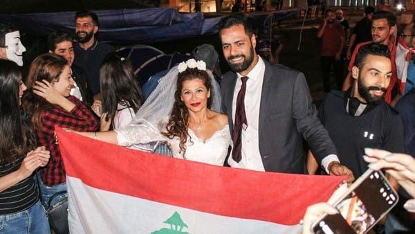 """صاحبة الركلة الشهيرة في لبنان.. بـ""""الأبيض"""" وسط بيروت"""