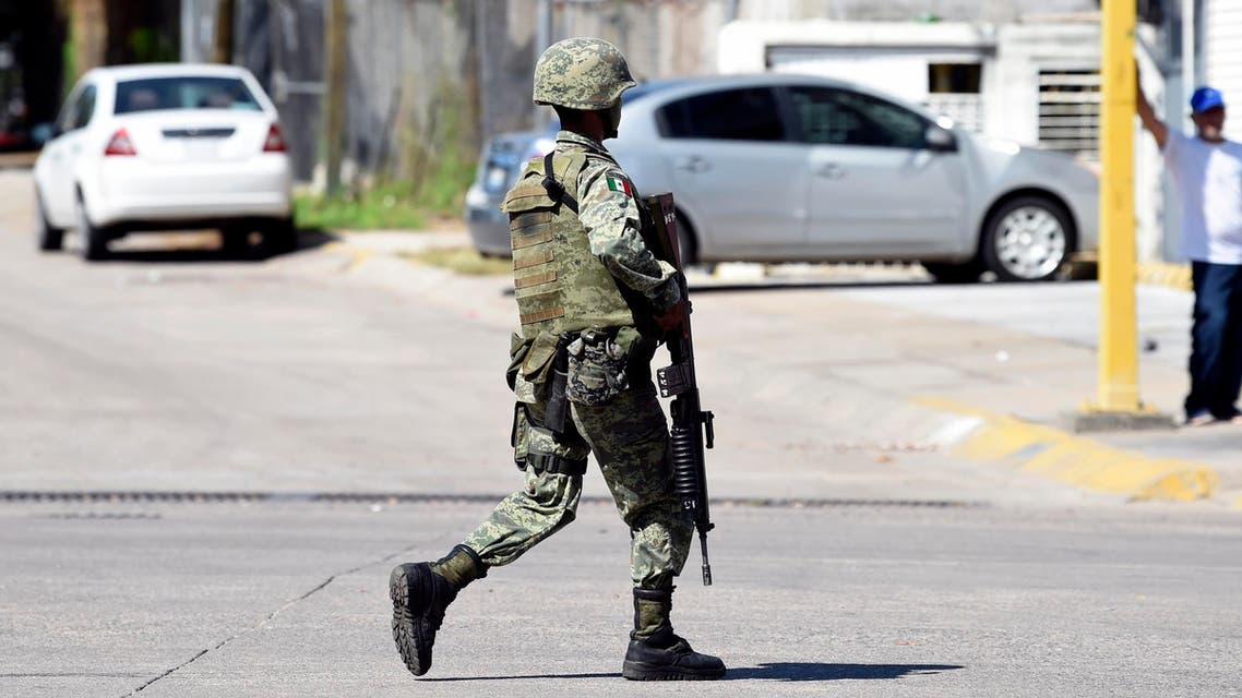 Mexico police army patrol October 18 - AFP